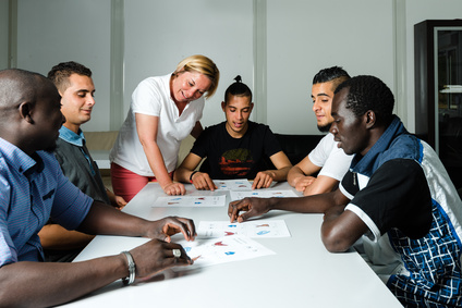 Language training for refugees in a German camp © Frank Gärtner - Fotolia_110801033_XS.jpg